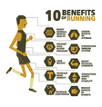 10 benefits of running design vector image vector image