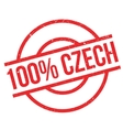 100 percent Czech rubber stamp vector image vector image