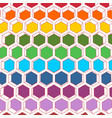 abstract honeycomb background vector image