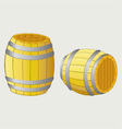 Beer barrels vector image