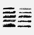 brush strokes set grunge edges grunge borders vector image