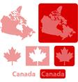 Canada balls vector image vector image