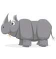 Cartoon Rhinoceros vector image vector image