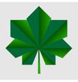 chestnut origami green leaf vector image vector image