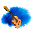 color image of acoustic guitar vector image