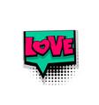 comic text phrase pop art love vector image vector image
