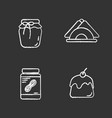 condectionery chalk icons set vector image vector image