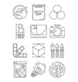 creative process icons sketch design branding vector image