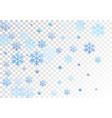 crystal snowflake and circle elements graphics vector image