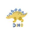 cute cartoon hand drawn dinosaur vector image vector image