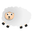 cute sheep icon cartoon style vector image