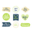 eco templates with hand lettering for logo and vector image vector image