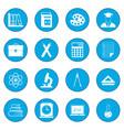 education icon blue vector image vector image