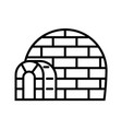 eskimo igloo icon outline style vector image