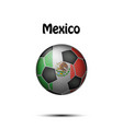 flag of mexico in the form of a soccer ball vector image