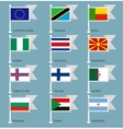 Flags set four-03 vector image vector image