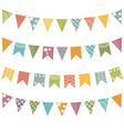 flat buntings with ornament isolated vector image