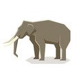 flat geometric asian elephant vector image vector image