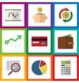 flat icon gain set of interchange payment vector image vector image