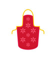 flower apron icon flat style vector image vector image