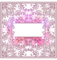 gentle square card with a tracery floral pattern vector image vector image