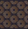 geometric seamless pattern with squares drawn with vector image vector image