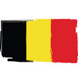grunge belgium flag or banner vector image vector image