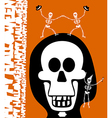Halloween greetings Skulll Background vector image