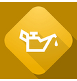 icon of Lubricator with a long shadow vector image vector image