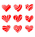 icon red heart flat style vector image vector image