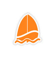 icon sticker realistic design on paper sailing vector image vector image