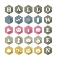 Icons Halloween vector image vector image
