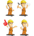 Industrial Construction Worker Mascot 9 vector image