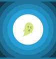 isolated ghost flat icon phantom element vector image vector image
