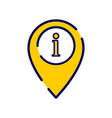 location icon with information sign vector image vector image