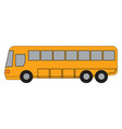 long yellow bus on white background vector image vector image