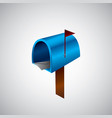 mail icon of mailbox vector image