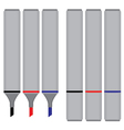 Marker Black Red Blue isolated on white background vector image vector image