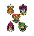 medieval royal court mascot collection vector image vector image