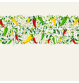Mexican chili pepper pattern design vector image