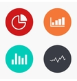 modern graph colorful icons set vector image vector image