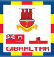 official government ensigns of gibraltar vector image vector image