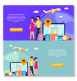 online travel service background promotional vector image