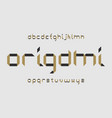 origami font alphabet vector image vector image