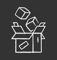 parcel packing chalk icon order packaging vector image