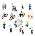 Pensioners Life Isometric Set vector image vector image