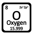 Periodic table element oxygen icon vector image vector image