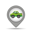 pickup truck pin map graphic vector image