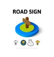 Road sign icon in different style vector image vector image