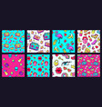 seamless 90s pattern retro 80s pop fashion vector image vector image